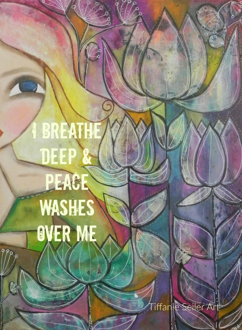 Peace Washes over Me 5x7 ART card PRINT image 0