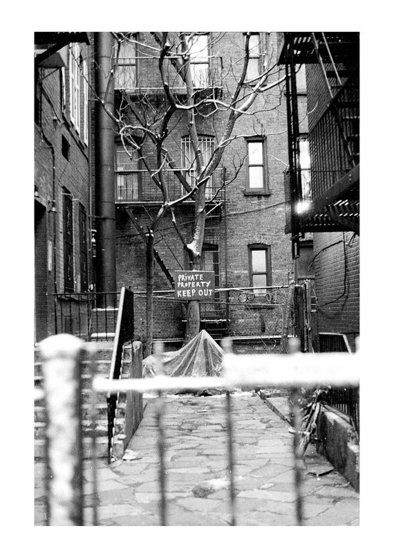 Private Property | New York City | 1994 | Fine Art Photography | Black and white print