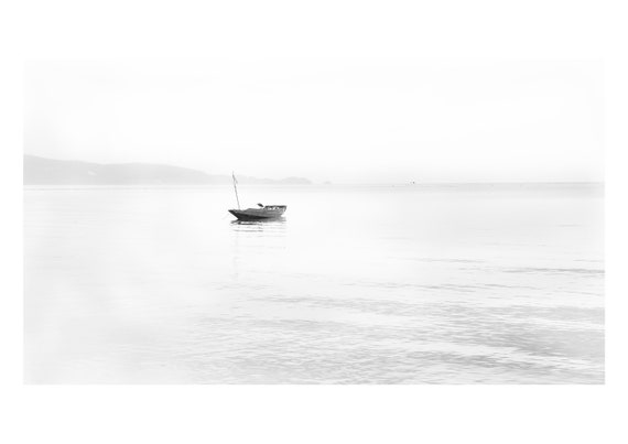 Solo boat, Koh Phangang, Thailand  | Fine art photography | Black and white print