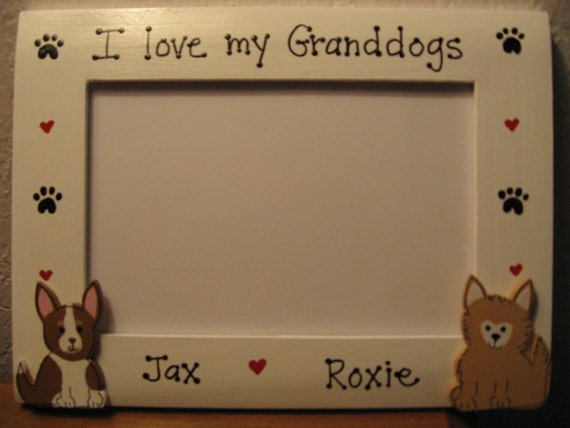 I Love My Granddogs Personalized Mothers Day Dog Photo Picture Etsy