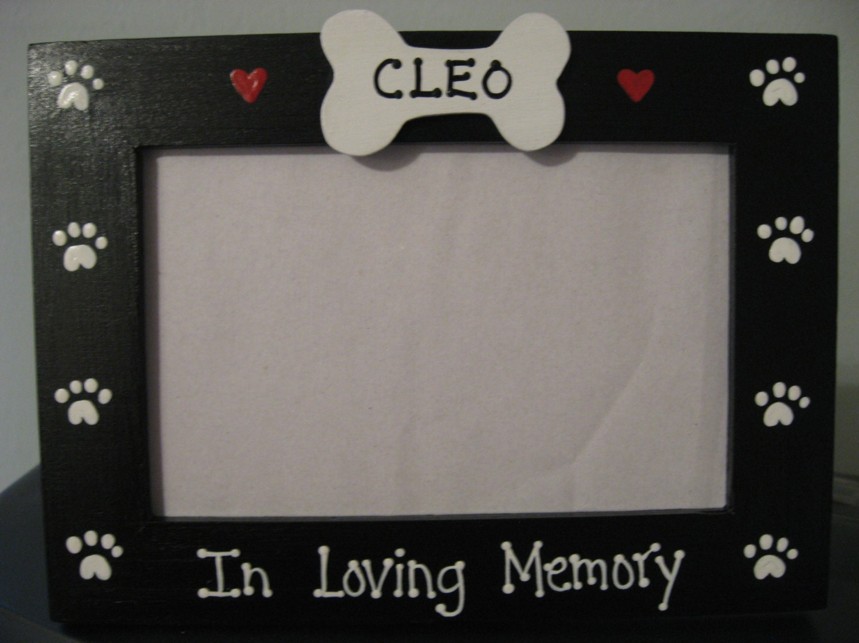 Personalized memory dog frame rememberance In Loving Memory | Etsy