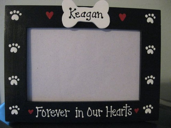 Personalized Forever In Our Hearts Memory Dog Frame Etsy