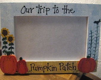 Halloween Thanksgiving Fall - Our trip to the Pumpkin Patch - family photo picture frame