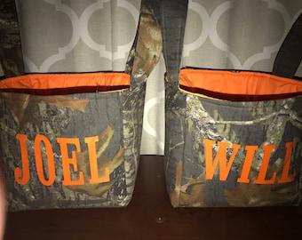 Custom Mossy Oak Break up Camo Personalized Easter Basket Tote Bag