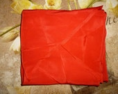 Antique 1920 39 s - Beautiful - Art Deco - Red - Silk - Pocket Square- for Gentlemen (55 quot long by 6 quot wide)