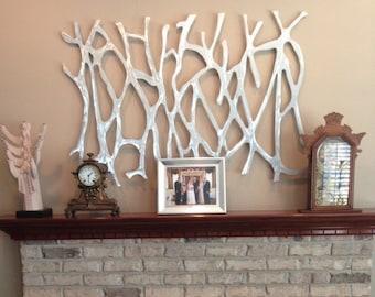 Metal Wall Art.Sculpture.  Abstract Wall Sculpture. Metallic. Home Decor. Aluminum  48 x 32