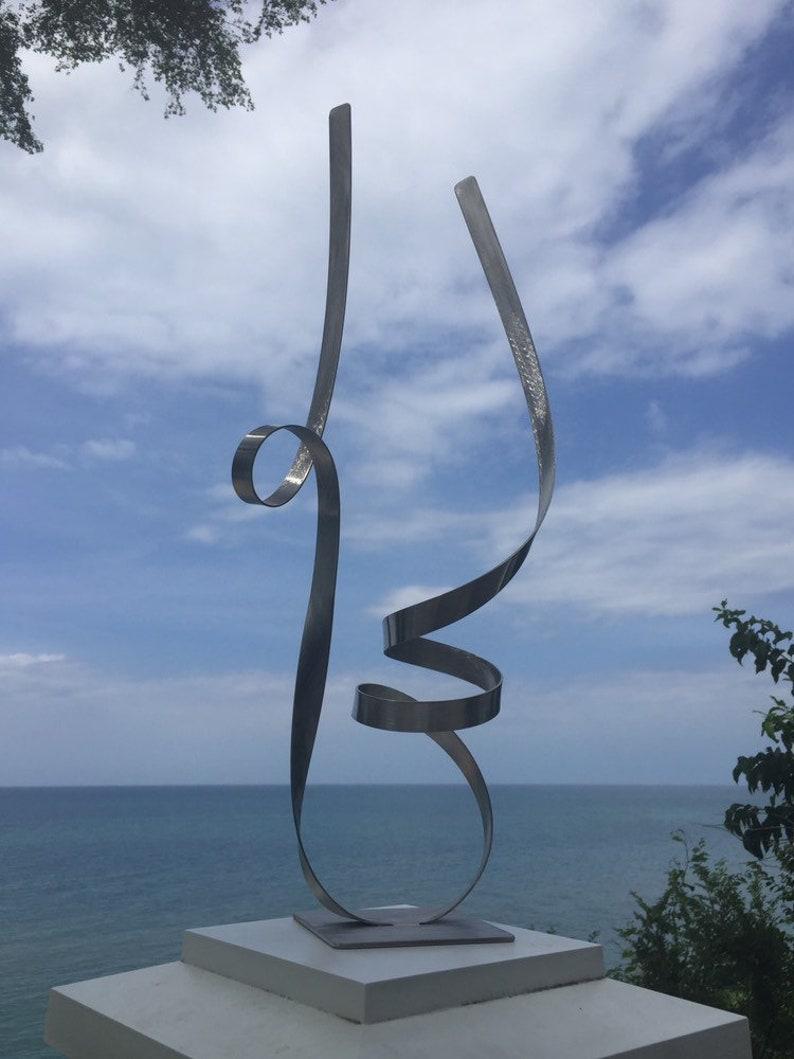 Modern Abstract Stainless Steel Metal Sculpture Garden Sculpture InOutdoor by Andre/'