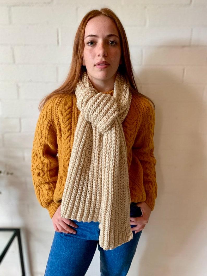 Crochet Shawl Soft Knit With Sleeve Winter Scarf Women Warm Sweater Long Wrap