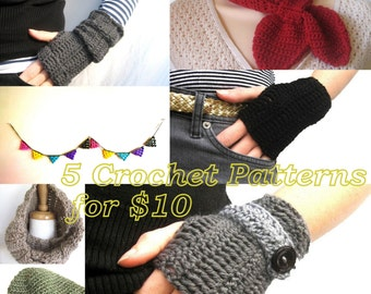 5 Crochet Patterns - Choose your own - Permission to sell items made from all patterns