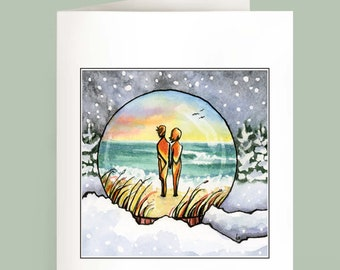 Snow Globe - Set of 6 Note Cards