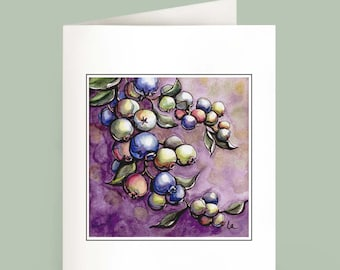 Blueberries - Set of 6 Note Cards