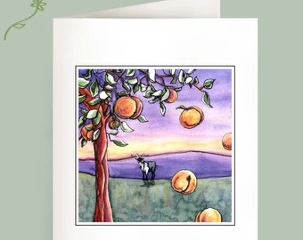 The Goat and the Peach Tree - Set of 6 Note Cards