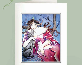 Mucha Musing - Six notecards - recycled