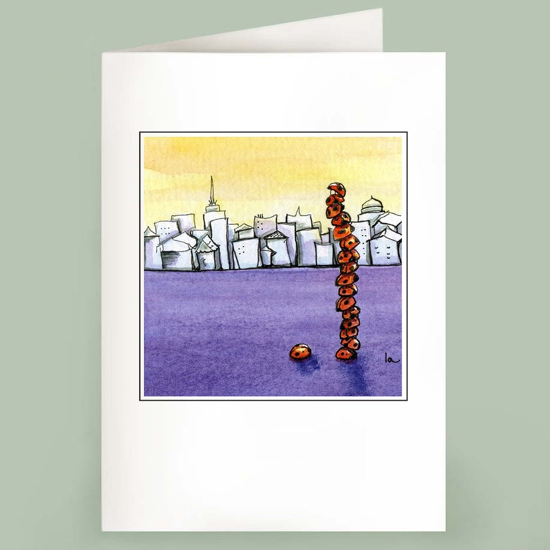 Skyscraper  Set of 6 Note Cards image 0