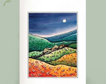 Calico Hills - Recycled cards - Set of Six