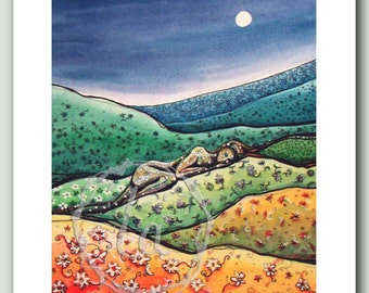 Calico Hills - Woman in a quilt Print