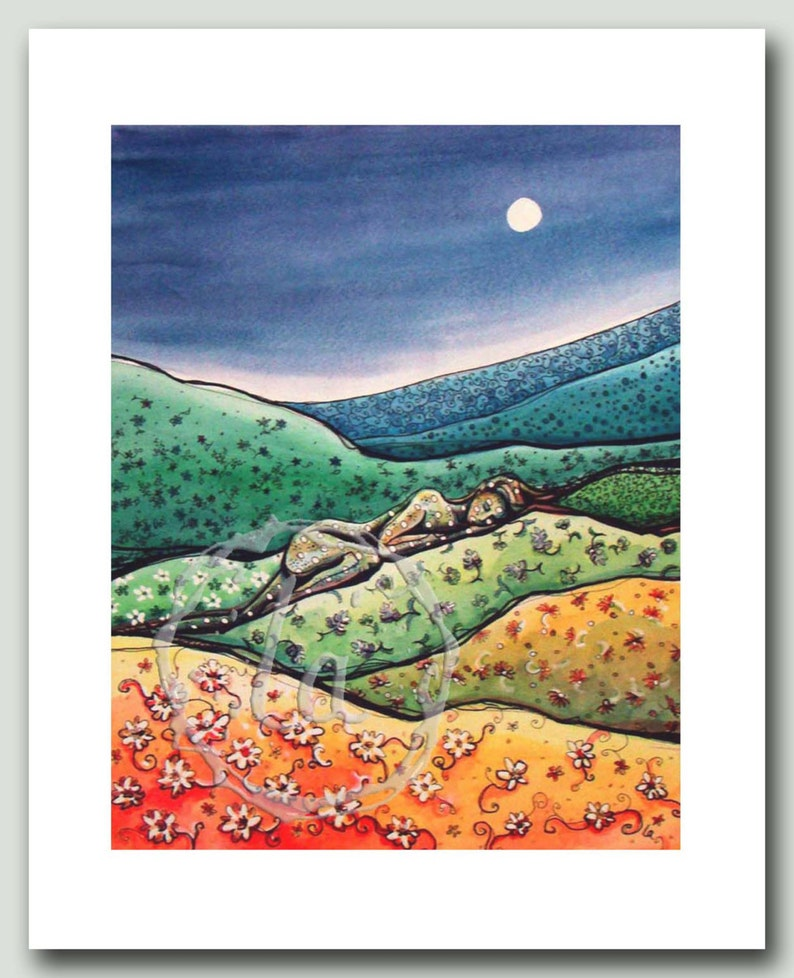 Calico Hills  Woman in a quilt Print image 0