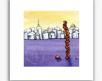 Skyscraper print - small - ladybug tower