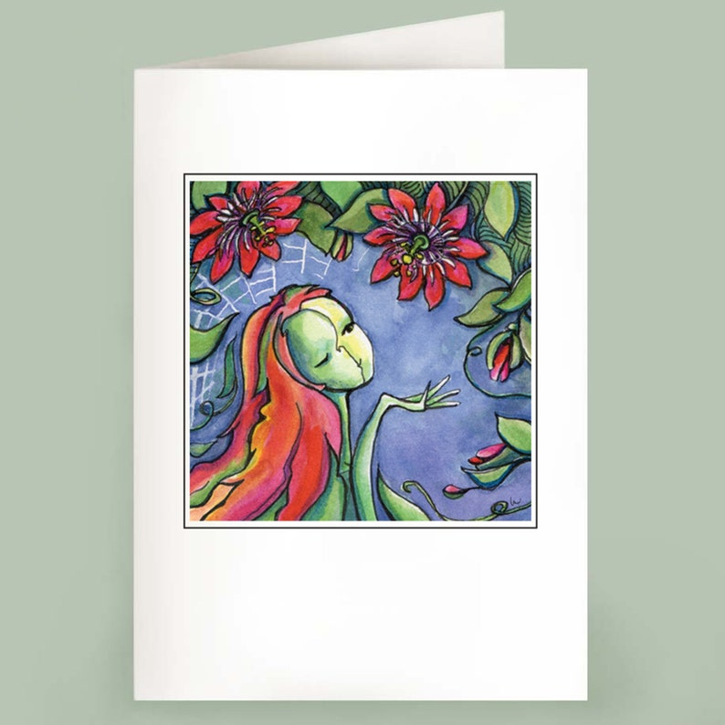 Passion Flurry  Set of 6 Note Cards image 0