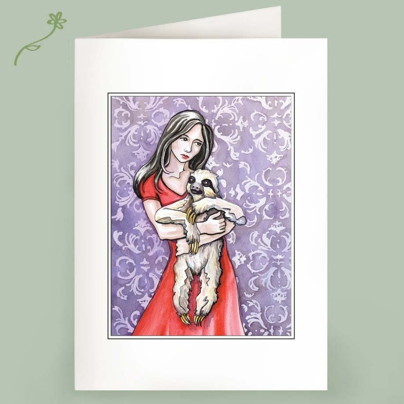 The Comfort of Sloth  Set of 6 Notecards image 0