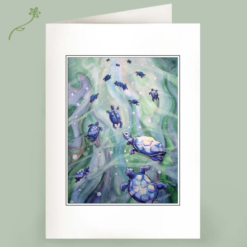 Dream of the Blue Turtles  Set of 6 Notecards image 0