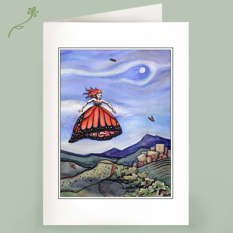 Set of 6 Note Cards  Aimed Pitch of the Will  recycled image 0
