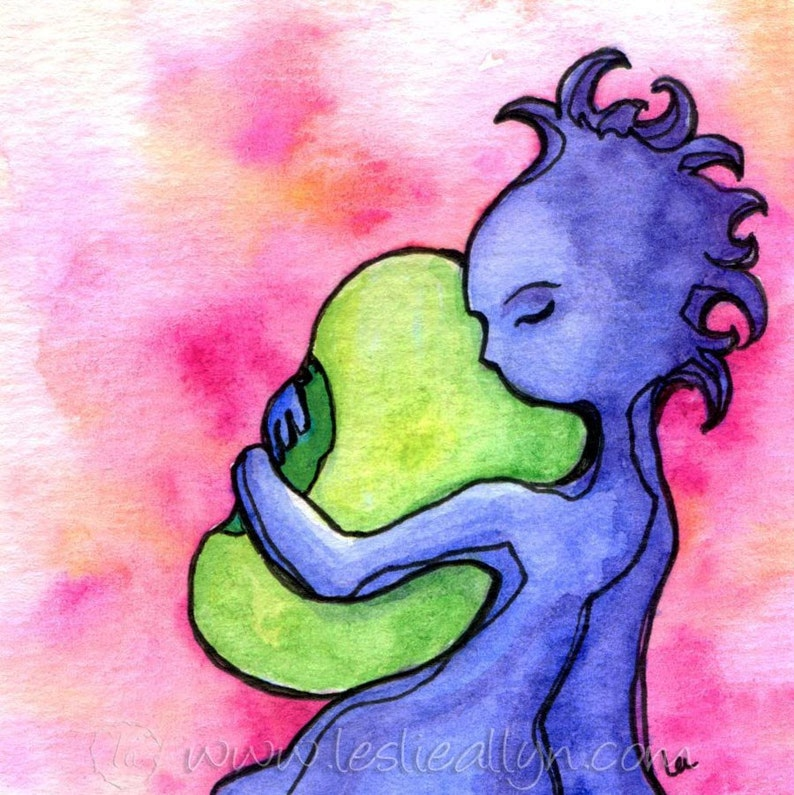 Bean  6x6 Original Framed Watercolor image 1