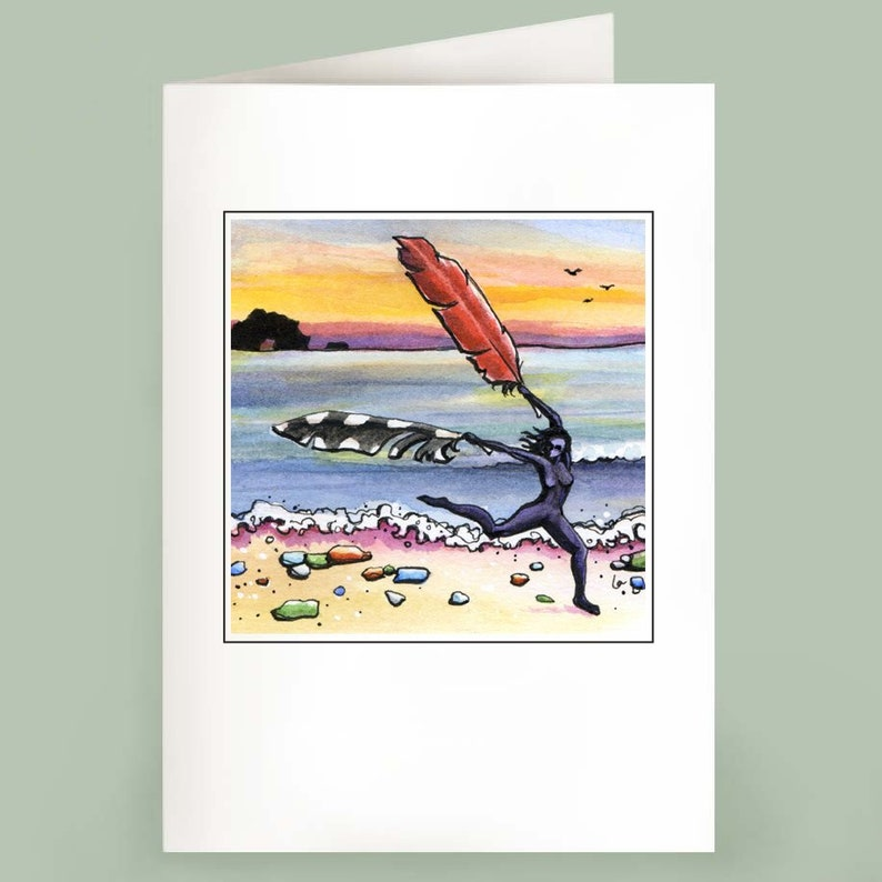 Air Traffic Controller  Set of 6 Note Cards  Beach Fairy image 1