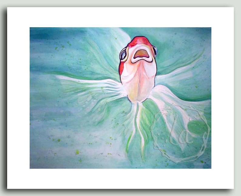 Herb  goldfish print image 0