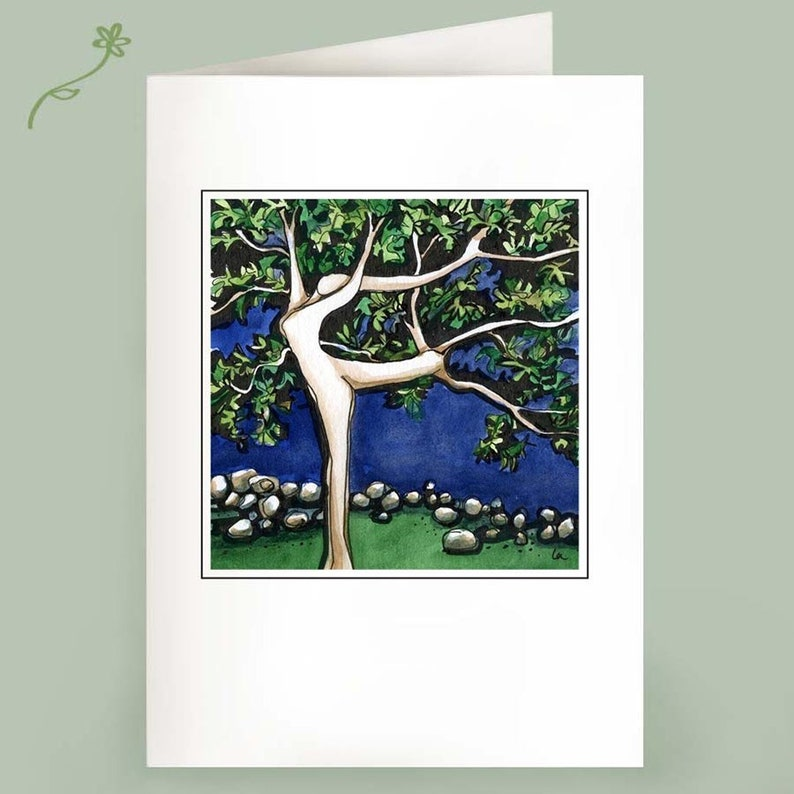 Dancing Tree  Set of 6 Notecards image 1
