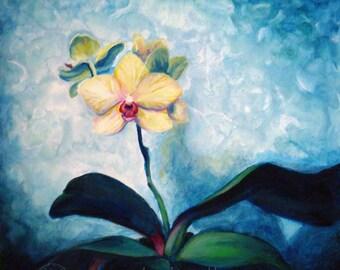 Good Omen - Original Oil Painting- 12x12 - Orchid