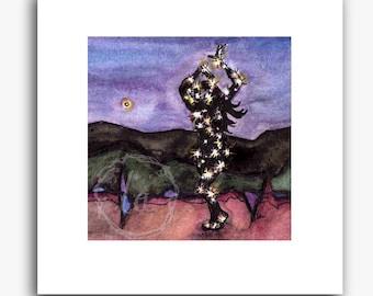 Lit Up - small print - Dancing with Christmas Lights