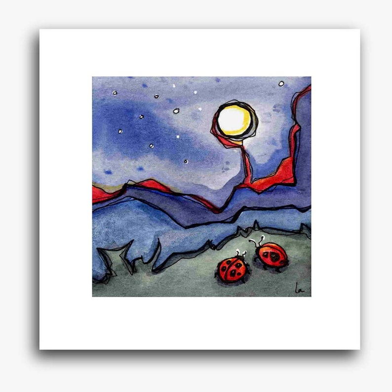 Moon Bugs  small square print image 0