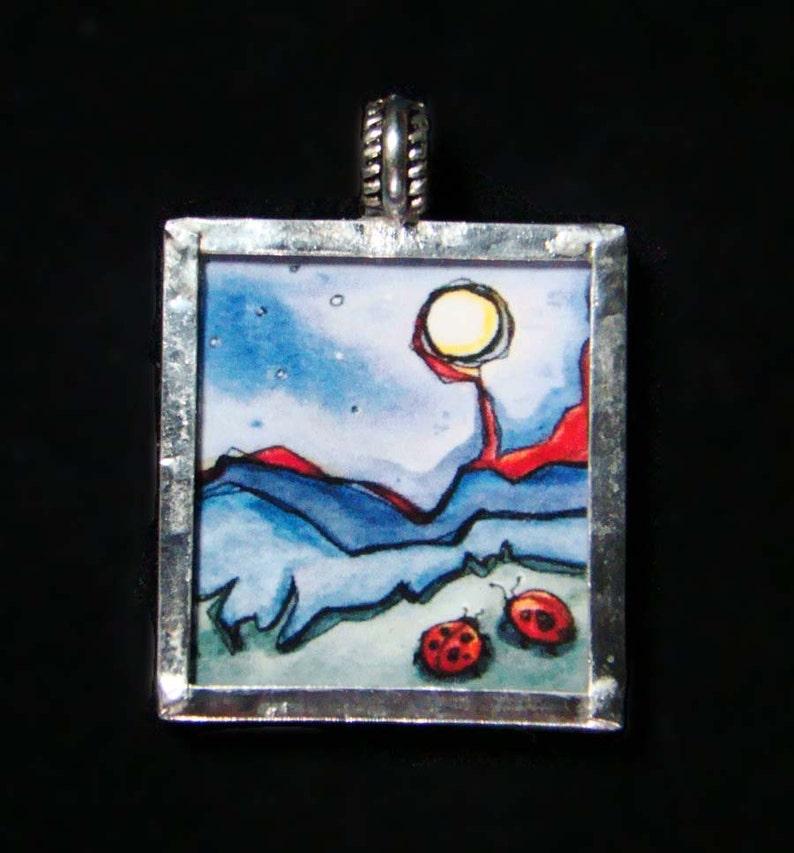 Moonbugs  Pendant  soldered art print image 0