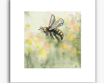 Just Bee - small square print