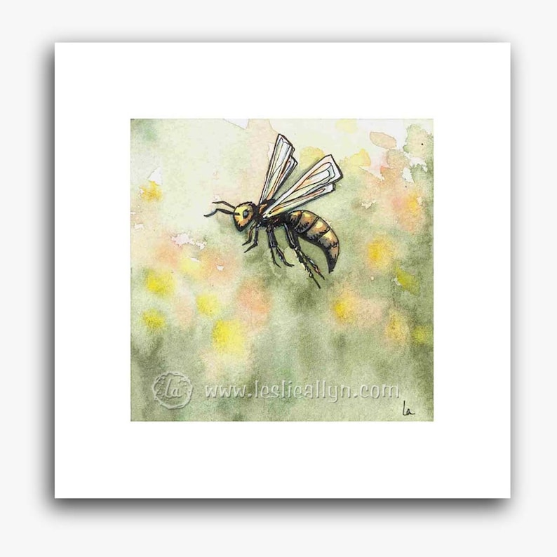 Just Bee  small square print image 0