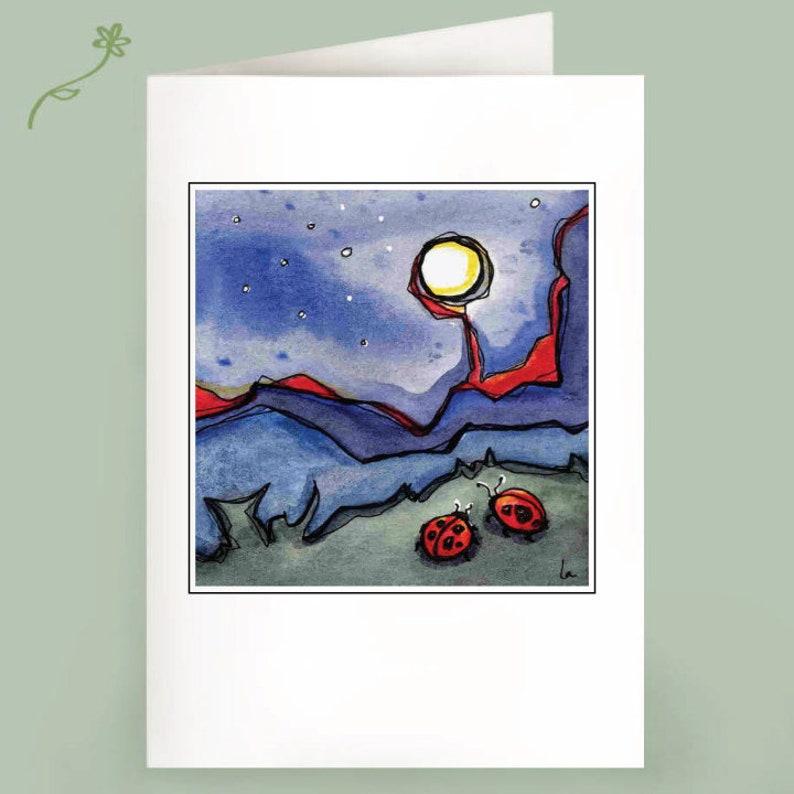 MoonBugs  Set of 6 Note Cards image 0