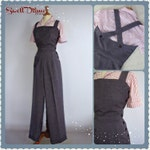 1940s  side buttoned custom made overalls in many fabrics,colors all sizes