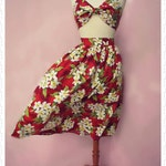 Swell Dame 1950s bustier sun top and gathered skirt Made To Order in your measuremments