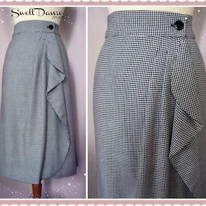 1940s Teenage Fashion: Girls Swell Dame Handmade Custom 1940s waterfall wrap skirt $98.04 AT vintagedancer.com