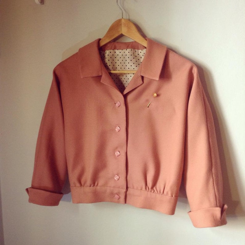Vintage Coats & Jackets | Retro Coats and Jackets Swell Dame custom made cropped 1950s bomber style jacket many colors $133.24 AT vintagedancer.com