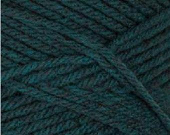 new BERNAT super value afghan yarn #53203 TEAL HEATHER blue green 7 ounce skein worsted acrylic knitting crochet