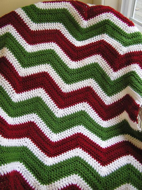 neue Chevron Zick Zack Baby Afghan Decke wickeln Weihnachten | Etsy