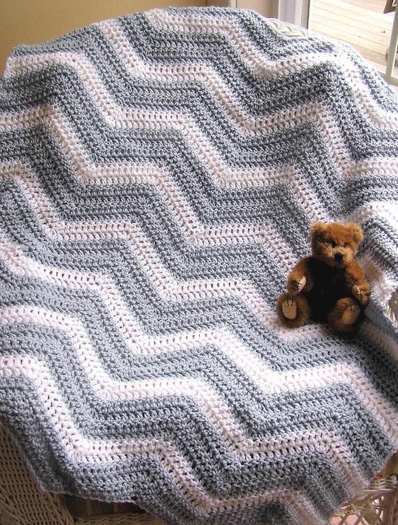 Häkeln Chevron Zick Zack Baby Decke afghanischen Wrap Schal | Etsy