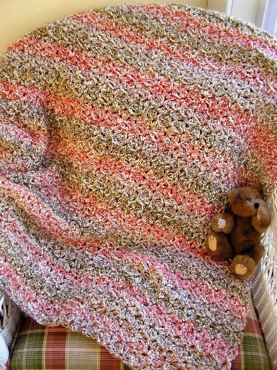 New Baby Blanket Afghan Wrap Crochet Knit Toddler Lap Robe Etsy