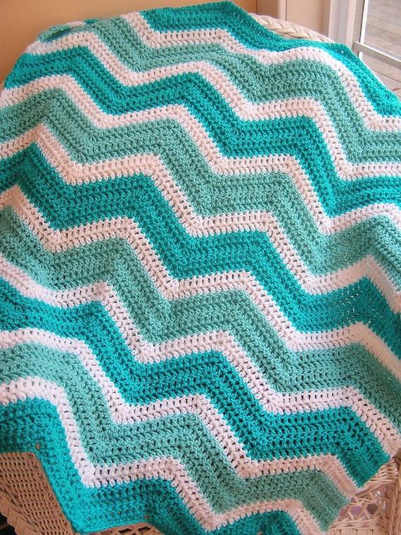 New Chevron Zig Zag Baby Blanket Afghan Crochet Knit Wrap Lap Etsy