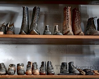 Shoes - Old Shoes - Old Shoe Store - Antiques - Antique Photography - Fine Art Photography