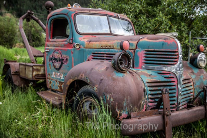 Tow Truck Wrecker Old Tow Truck Dodge Tow Truck Dodge Etsy