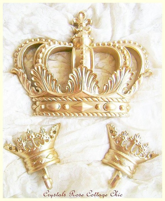 Bed Crown Canopy Crib Crown Nursery Design Wall Decor: Gold Fleur De Lis Bed Crown Canopy Set With Canopy Bar