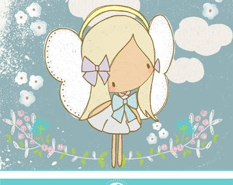 Beautiful day angel clipart - CIMMERCIAL USE OK